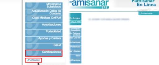 Cómo descargar el certificado de afiliación de Famisanar