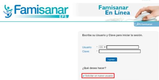 Cómo me puedo registrar en la EPS Famisanar