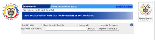 antecedentes judiciales Colombia