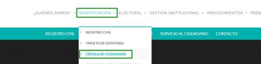 certificado de Cedula en Colombia