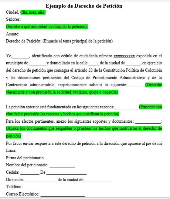 Cómo hacer un derecho de petición