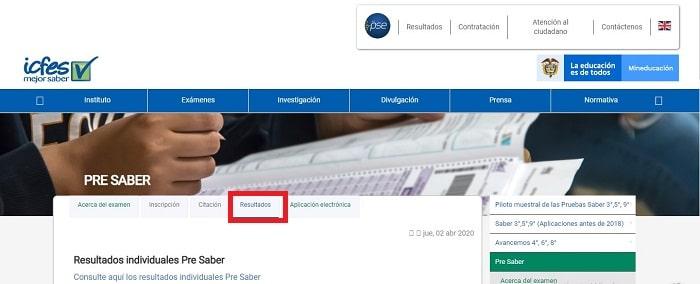 Certificado ICFES web