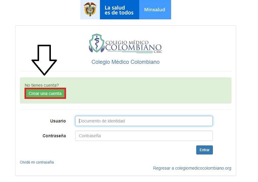 Registrarse en el Colegio Médico Colombiano